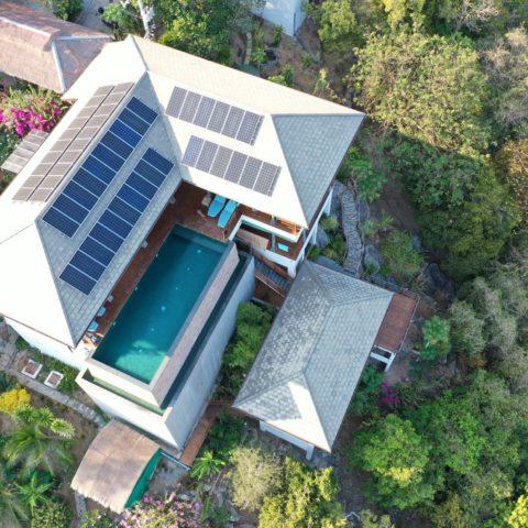 15 KW Solar Ko Samui Systemi, Taling Nam Solar Samui 2020 / Green energy