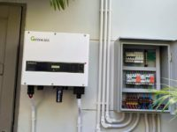 10 KW on grid Solar system with Growatt Inverter on Samui near Leam Sor